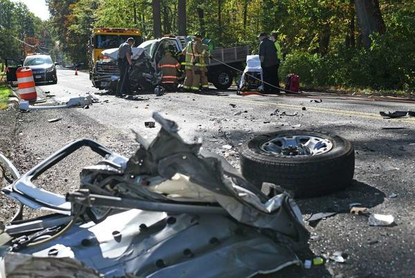 Picture for Serious crash sends two people to hospital, officials say