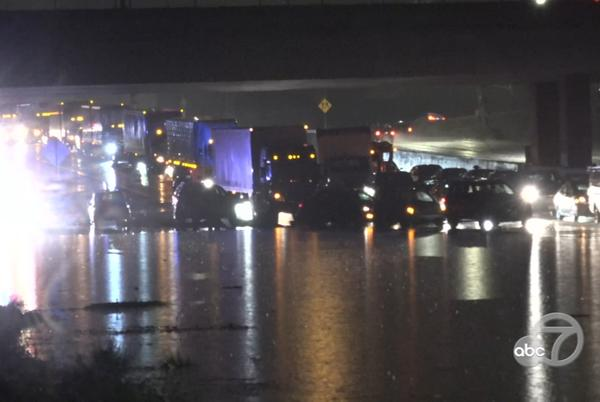 Picture for Bay Area storm: Drivers abandon vehicles on flooded I-880 in Fremont