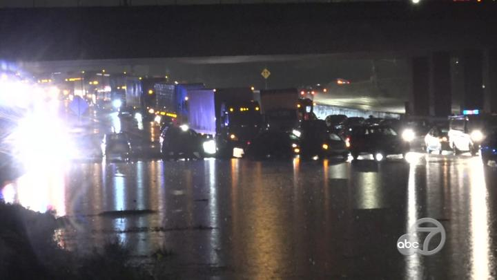 Cover for Bay Area storm: Drivers abandon vehicles on flooded I-880 in Fremont