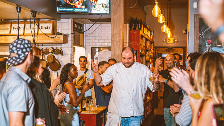 """Cover for Delray Beach's """"Knife Fight"""" chef competition hosted by Rose's Daughter picks up where Chef vs. Chef left off"""