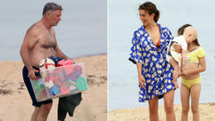 Cover for Alec and Hilaria Baldwin hit Sag Harbor for Father's Day