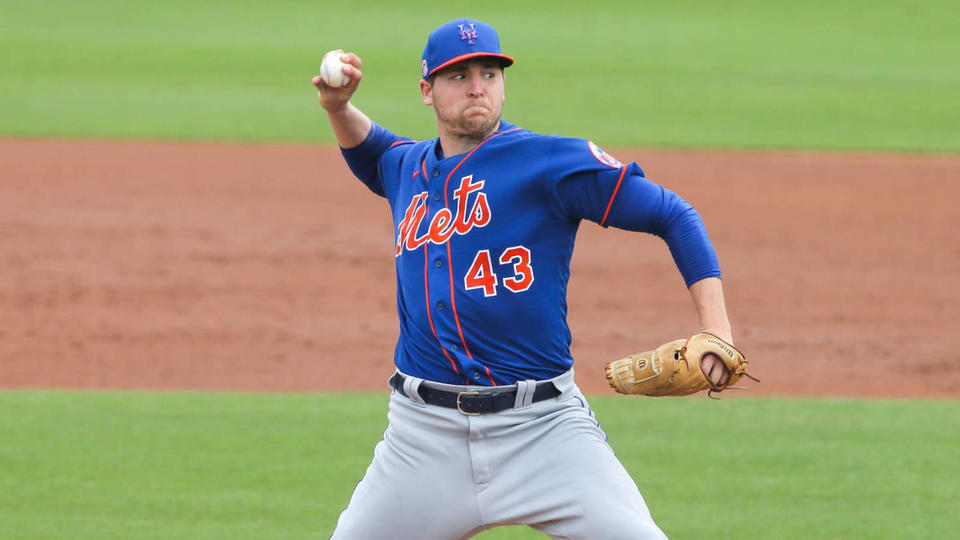 Picture for Mets select RHP Jerad Eickhoff, designate outfielder Mason Williams