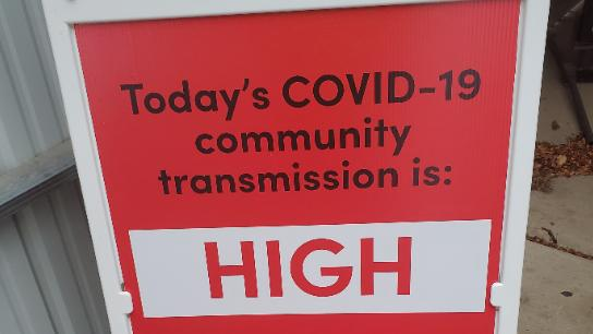 Cover for COVID cases rise in north-central Iowa over last week