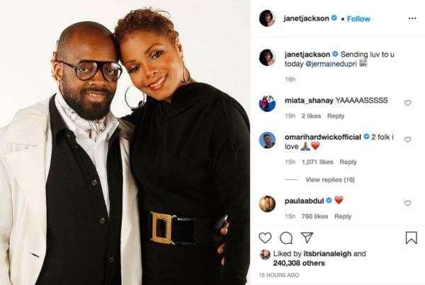 Picture for 'I Told Yall': Janet Jackson Sends Her Ex Jermaine Dupri a Touching Post In Honor of His Birthday, Bow Wow and Nelly Respond