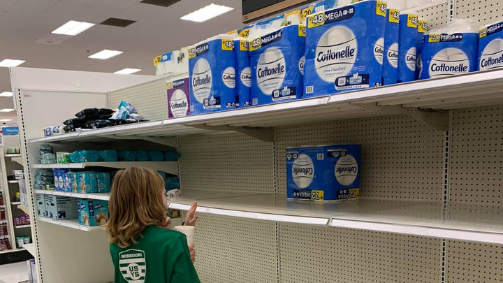 Cover for Shoppers Find Half-Empty Aisles in St. Charles County