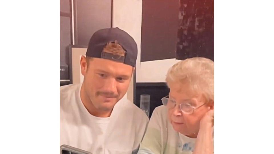 Picture for Bachelor's Colton Underwood Enlists His Grandma to Help Him Find a Match on Tinder