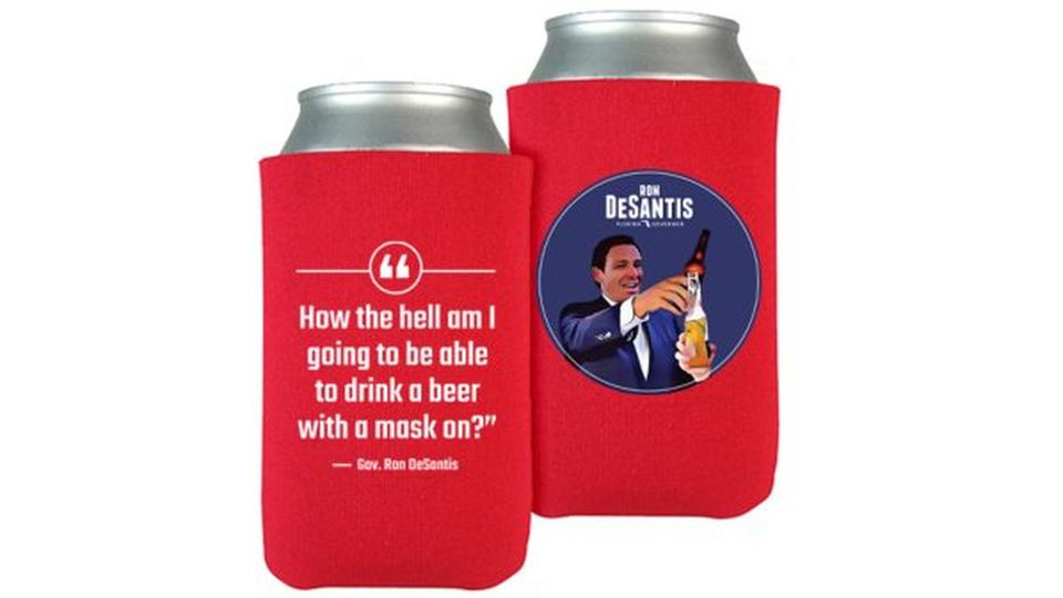 Picture for 'You're on your own': As Florida ICUs swell and CDC urges masks, DeSantis sells mask-mocking koozies | Commentary