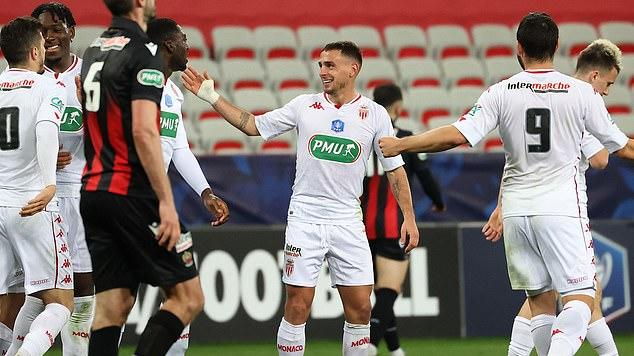 Picture for Nice 0-2 Monaco: Kevin Volland and Ruben Aguilar goals help visitors ease into the last 16 of the Coupe de France following Cote d'Azur derby victory