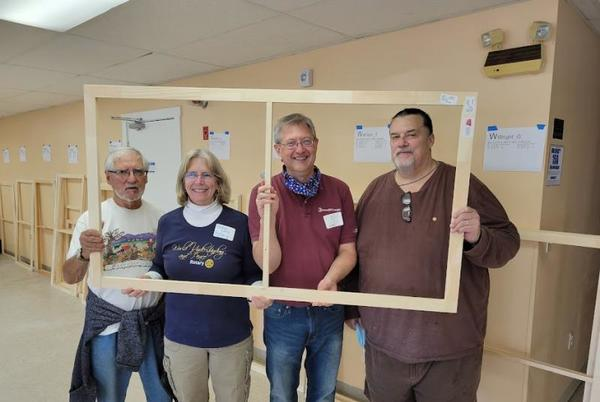 Picture for Rockland Rotarians lend a hand to WindowDressers Community Project