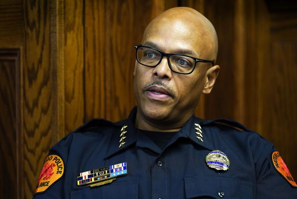 Picture for Black Iowa police chief faces backlash after bringing change