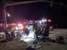 Picture for 2 airlifted from Monday night crash on Palmdale Rd in Adelanto