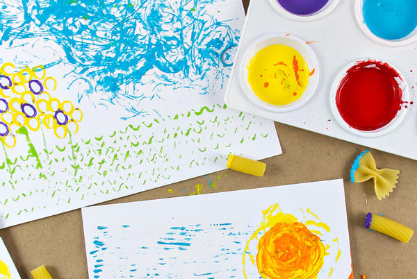 Picture for Pasta Art is the Perfect Messy Art Project for Preschoolers
