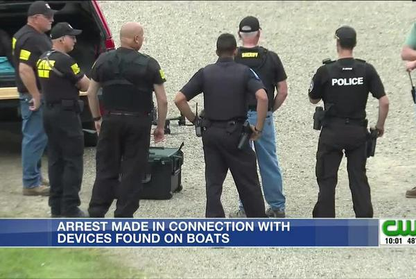 Picture for Man arrested in connection with suspicious devices found on barges