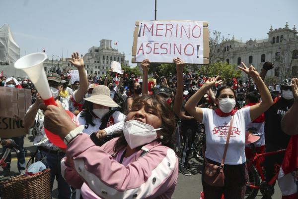 Picture for Peru's interim president resigns as chaos embroils nation