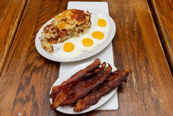 Picture for Michigan's Best Local Eats: Belly-busting Bomber Restaurant meal has 3 pounds of potatoes, 10 slices of bacon