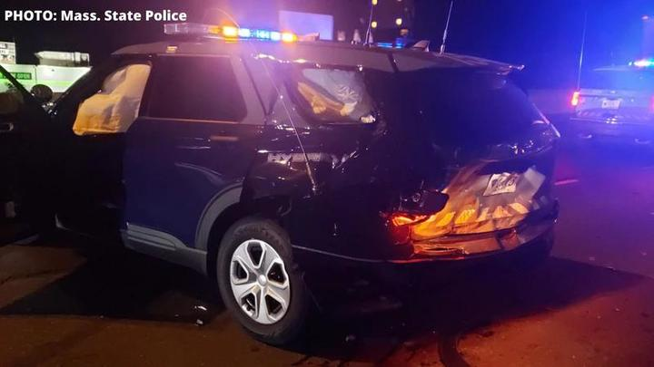 Cover for Driver charged with OUI after crashing into MSP cruiser