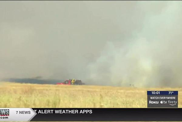 Picture for Fire crews contain grass fire in Comanche County