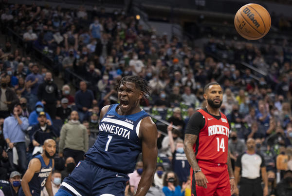 Picture for Anthony Edwards, Karl-Anthony Towns take charge in Timberwolves' 124-106 thrashing of Rockets