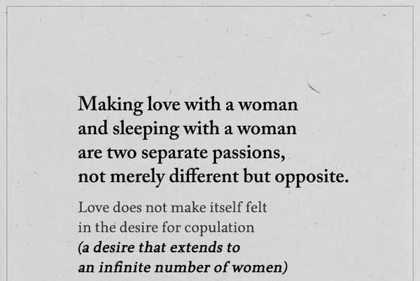 Picture for Making Love With A Woman And Sleeping With A Woman Are Two Separate