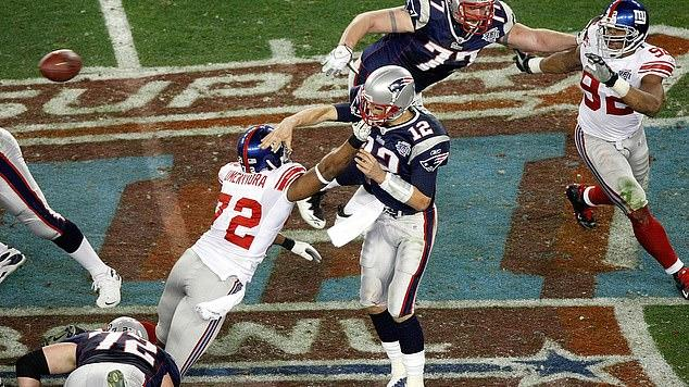 Picture for 'You have to take his head off!' Two-time Super Bowl winner Osi Umenyiora on what it takes to beat Tom Brady... as the Tampa Bay Buccaneers quarterback hunts his seventh ring tomorrow against the Kansas City Chiefs