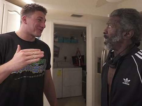 Stevewilldoit Changes Homeless Man S Life With Apartment Job 25k News Break The first time i saw him it was impressive but. stevewilldoit changes homeless man s