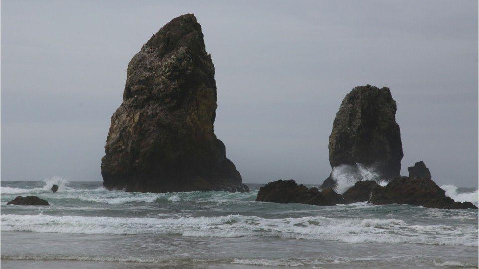 Picture for Oregon girl, 11, dies after tide sweeps her away at Cannon Beach