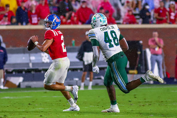Picture for Matt Corral named Walter Camp offensive player of the week