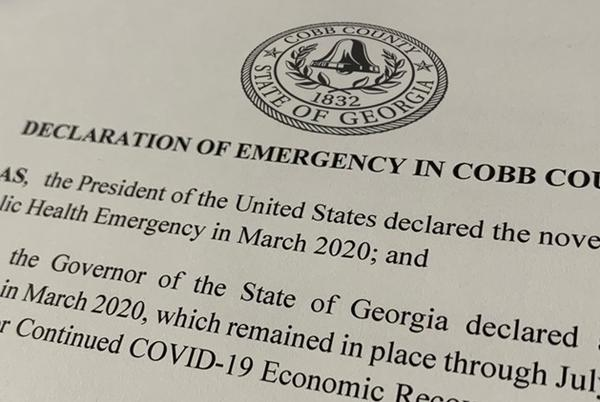 Picture for Cobb County extends COVID emergency declaration