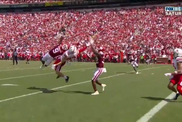 Picture for 'Best interception ever?' Watch Oklahoma player from Fort Worth make incredible catch