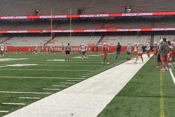 Picture for SU men's lacrosse team holds intra-squad scrimmage