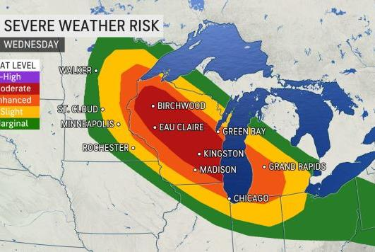 Picture for Chicago, Milwaukee metro areas at risk for damaging derecho