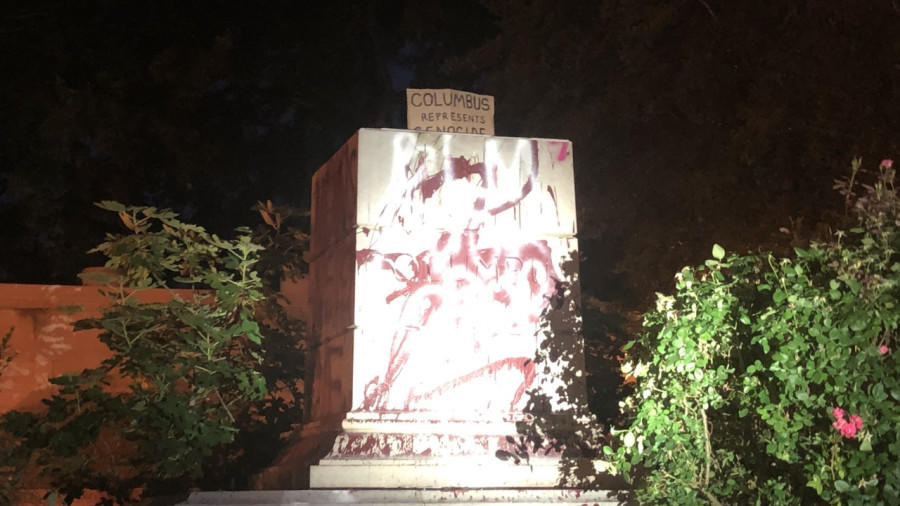 Christopher Columbus statue at Virginia park torn down, thrown ...