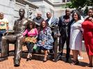 Picture for 700-pound bronze statue of George Floyd unveiled in New Jersey