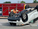Picture for Crash and rollover on East 32nd at Indiana