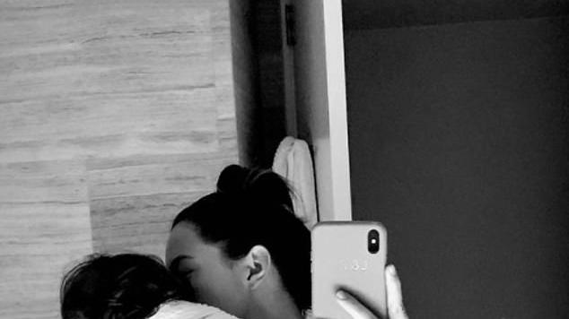 Picture for 'Look at those bags!' Jesinta Franklin reveals the harsh reality of motherhood as the exhausted model is forced to stay up all night with her toddler while 'daddy is interstate'