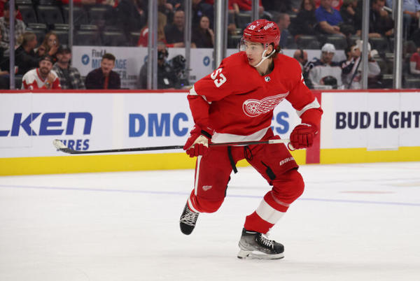 Picture for Detroit Red Wings: Moritz Seider is looking very comfortable so far