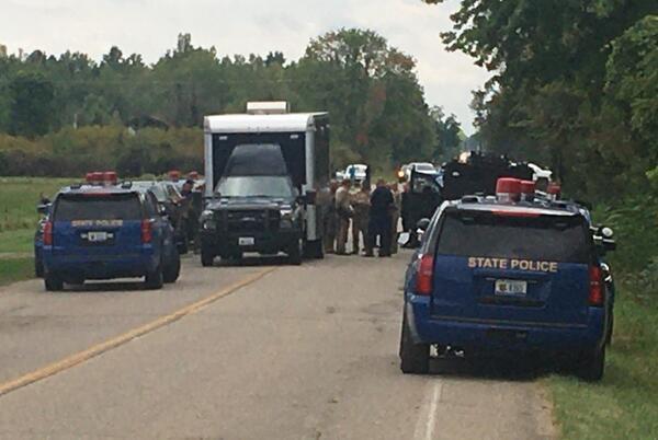 Picture for MSP: Man in custody after barricading himself inside Van Buren County home