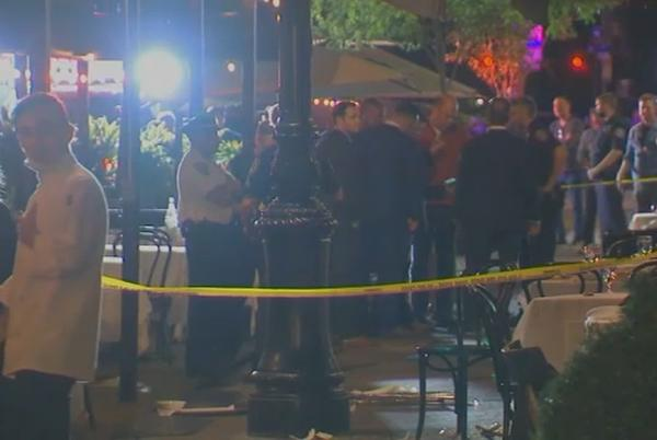 Picture for Video: Brazen robbers shoot customer dining outside upscale NYC eatery