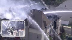 Cover for Fast-moving fire destroys NJ apartment building, displacing about 75 people