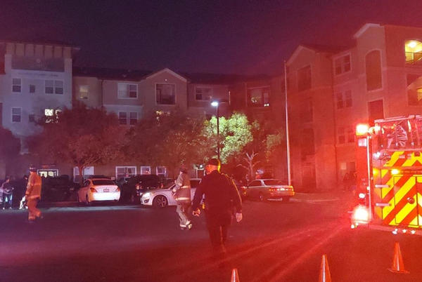 Picture for 450 people evacuate following apartment complex fire