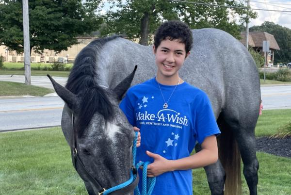Picture for Chesterland girl diagnosed with cancer surprised with horse