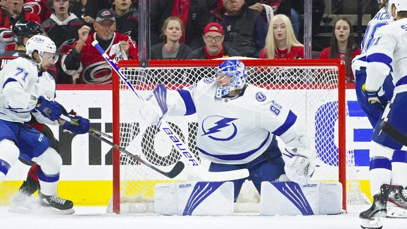 Picture for Barclay Goodrow nets game-winner as Lightning beat Canes in Game 1