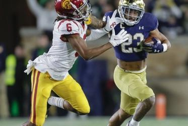 Picture for No. 13 Notre Dame Beats USC 31-16 Behind Kyren Williams' 138 Yards, 2 TDs