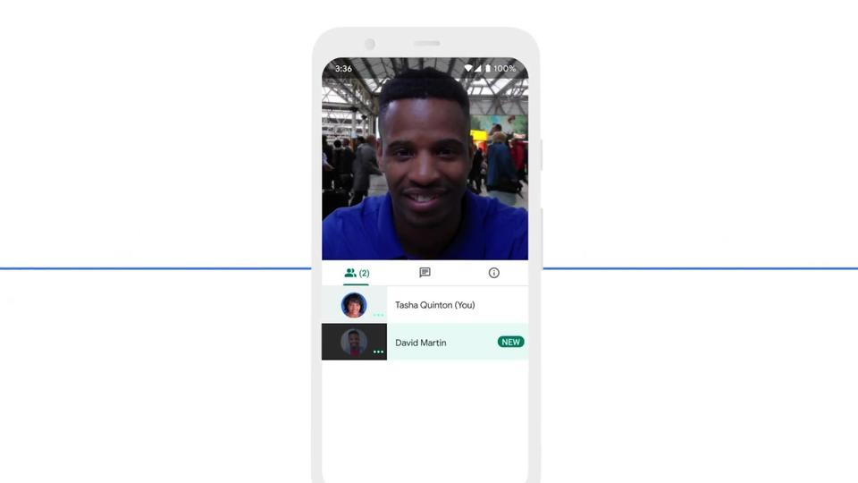 Picture for Google Meet noise filtering now on mobile, 60-minute limit coming
