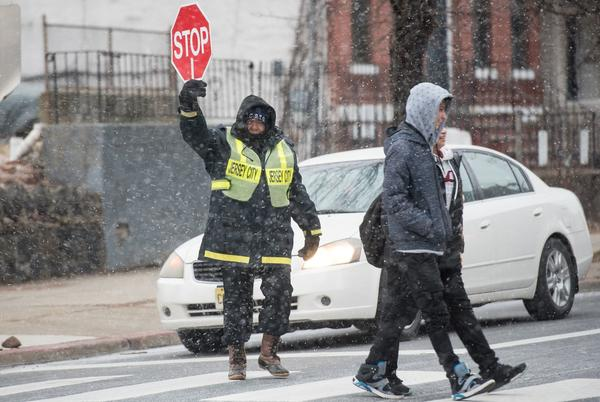 Picture for The Jersey City school district doesn't have enough crossings guards; police officers to be used in their place