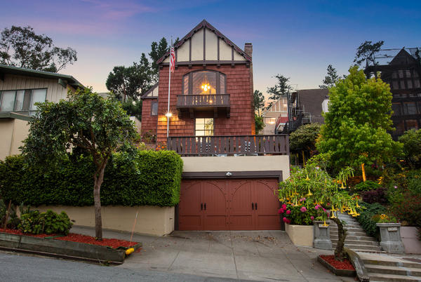 Picture for San Francisco Tudor with secret library listed at $3.8M