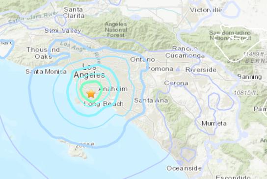 Picture for Magnitude 4.3 earthquake shakes Southern California