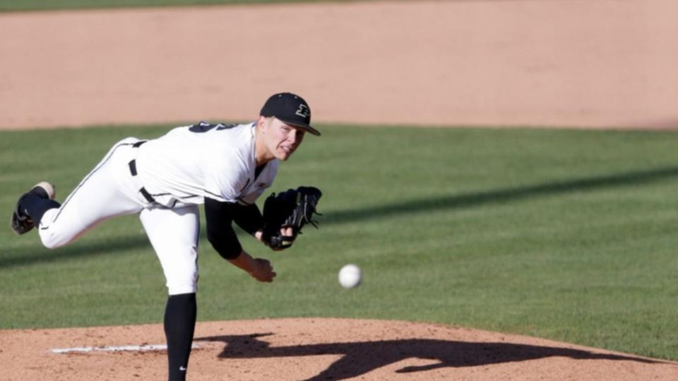Picture for Trent Johnson Helps Purdue Baseball to 7-4 Victory in Final Game on the Mound