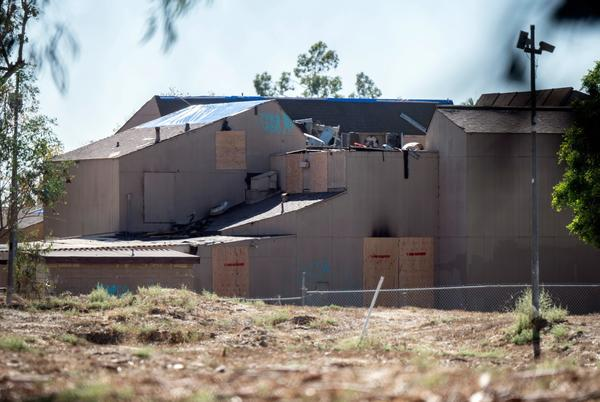Picture for Former Orange YMCA building that could become part of Islamic cemetery is scorched by fire