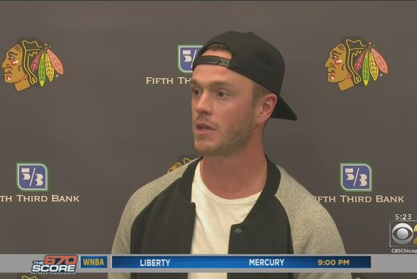 Picture for Jonathan Toews Back On Ice For First Time At Blackhawks Training Camp After Missing All Of Last Season